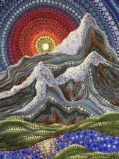 Pointillism Art Projects Dot Painting Ideas For 2019 Dot Art Painting, Painting Patterns, Stone Painting, Mandala Art, Mandala Painting, Arte Country, Inspiration Art, Indigenous Art, Aboriginal Art