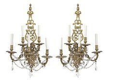 Importante paire d'appliques de la Maison Gagneau à Paris de la fin du XIXe