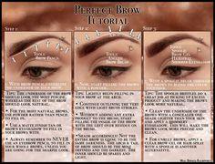 Perfect Brow Tutorial by psychoren.deviant… on deviantART - Make-Up Techniken Beauty Blender Video, Beauty Hacks Video, Beauty Tips, Beauty Products, Brow Brush, Brow Gel, Makeup Pictorial, Beauty Background, Shimmer Eyeshadow