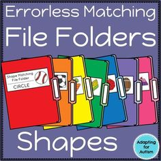 These errorless file folders can help teach shapes in your special education classroom. Use these file folder activities for independent work stations and TEACCH tasks in your structured teaching program. Created for students with autism, these are ideal for elementary students learning basic concepts and skills.