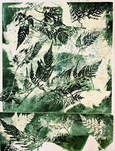 Monotype 28x38 cm Vintage World Maps, Printmaking, Art