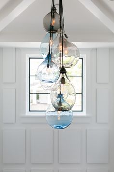 Pretty blown glass for coastal home.