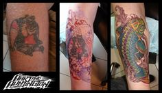 Welcome to Tattoo Tuesday where we highlight the amazing work going on at all Hart and Huntington Tattoo shops. Here is an awesome cover up piece courtesy of tattoo artist Jeremie LaFrance