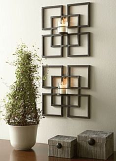 I love candle wall sconces. I love candle wall sconces. Wall Candle Holders, Candle Wall Sconces, Candle Wall Decor, Iron Furniture, Steel Furniture, Decoration Facade, Iron Decor, Metal Wall Decor, Metal Walls