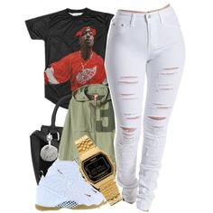 Untitled #754 by cjasmyne on Polyvore featuring adidas, Casio and NIKE