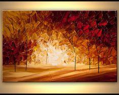 Paisaje pintura moderna espátula pintura Original por OsnatFineArt