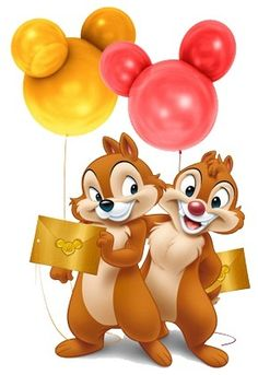 Chip Dale celebrate balloons