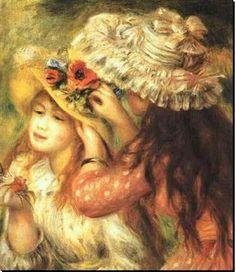 Edouard Manet's daughters painted by  Renoir....Manet and Renoir were best friends!