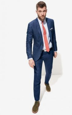 look masculino terno gravata laranja