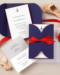 There's something classic and rare about this minimalist nautical invite.