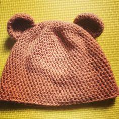 Crochet Teddy Bear Hat, Beanie for kids :)