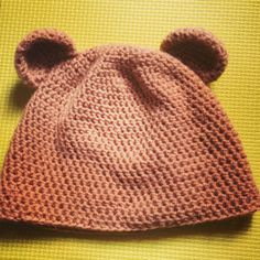 Crochet Teddy Bear Hat, Beanie for kids :)