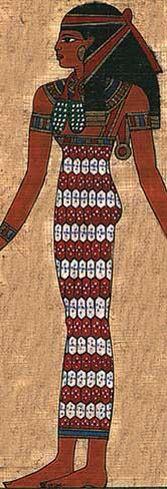 A Kalasiris was a fitted sheath dress worn by Egyptian women.