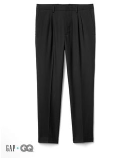Gap Mens Gap + Gq Ami Pleated Suit Trousers Soft Black Size 36W Gap Men fd95d61ba34f
