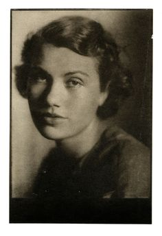 Black and white photograph of Jane Blaffer, facing the camera, 1926