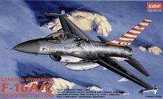 Lockheed Martin F-16A / F-16C Fighting Falcon. Academy, 1/48, injection, No.12259. Price: 12,59 GBP.