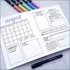 Calendario mensual bujo - Monthly log Bullet Journal.