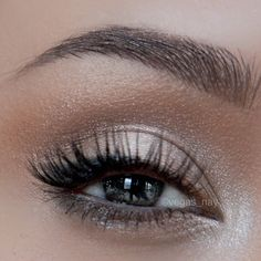blend in CHOPPER through crease like a windshield wiper; blend well for a natural look 3.) FOXY on brow bone 4.) lightly line middle top lash line & outer w/ BLACKOUT & smudge a tiny bit to lower lash line 5.) highlight inner top lid & inner lower lash line w/ VERVE to make everything pop