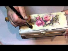 Decoupage krok po kroku - pudełko na kredki - YouTube