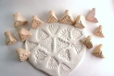 Texture Stamps for Clay -- CHOOSE One or Two Triangles -- Handcrafted Tools for Pottery Ceramics Polymer Clay