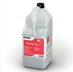 Ecolab Trump XL -  tekući lužnati deterdžent za strojno pranje posuđa u vodi srednje tvrdoće.