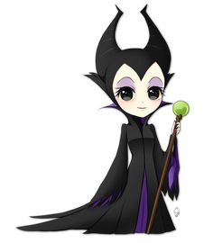 Chibi Commission Maleficent by Exceru-Karina on DeviantArt Chibi Commission Maleficent by Exceru-Hensggott on deviantART Kawaii Disney, Disney Chibi, Disney And Dreamworks, Disney Kunst, Arte Disney, Disney Fan Art, Disney Babys, Baby Disney, Disney Love