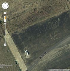 A special message captured via satellite on Google Maps.     Source: aroona.blogspot.com