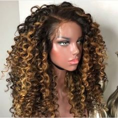 Curly Wigs Lace Wigs Frontal With Curly Hair Curly Wigs, Long Curly Hair, Curly Hair Styles, Natural Hair Styles, Curly Lace Front Wigs, My Hairstyle, Curly Bob Hairstyles, Teen Hairstyles, Casual Hairstyles