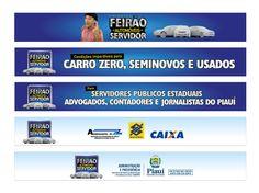 Banner para internet - Primeiro Feirão de Automóveis do Servidor / Cliente: Governo do Piauí Banner, Internet, Banner Stands, Banners