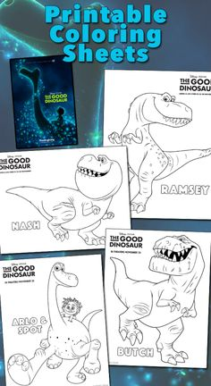 These fun coloring pages will get you excited about Disney/Pixar's The Good Dinosaur–in theaters Thanksgiving Day! Dinosaur Coloring Pages, Cool Coloring Pages, Disney Coloring Pages, Coloring Books, Adult Coloring, Dinosaur Printables, Dinosaur Crafts, Dinosaur Dinosaur, The Good Dinosaur