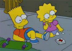 gif the simpsons simpsons lisa simpson lisa bart bart simpson season 6 lisa on ice fyspringfield Simpson Wave, Lisa Simpson, Simpsons Quotes, The Simpsons, Best Tv Shows, Favorite Tv Shows, My Favorite Things, Cartoon Gifs, Cartoon Shows