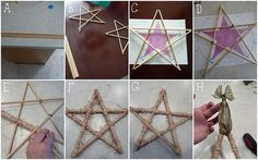 How to make pentacle starts out off sticks and twine.
