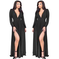 Anita Black Maxi Dress // emprada.com