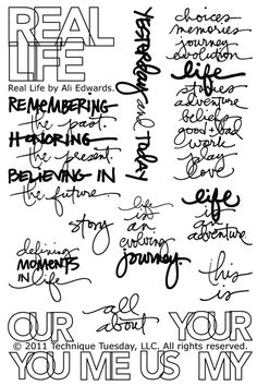 Project Life Words *could print on journaling cards or on the side of pictures*