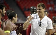 UNIVERSITY OF OKLAHOMA / OU: L.A. Clippers and former Oklahoma basketball player Blake Griffin is introduced during a reunion basketball game at the Sooner Basketball Family Weekend at Lloyd Noble Center in Norman, Okla., Saturday, Aug. 27, 2011. Photo by Sarah Phipps, The Oklahoman ORG XMIT: KOD