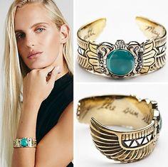 Scarab Cuff :: Turquoise