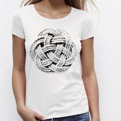 T-shirt blanc femme Infinite loop