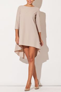 Looking for Mini Dresses? Call off the search with our Beige Long Back Dress. Shop unique fashion at SilkFred Hi Low Dresses, Cute Dresses, Beautiful Dresses, Casual Dresses, Short Dresses, Elegant Dresses, Mode Outfits, Dress Outfits, Fashion Dresses