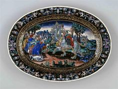 An enamel bowl by Martial Courteys, bevore 1592, depicting the Whore of Babylon…
