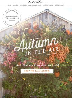 #Autumn is in the air with the #fall launch and lookbook at #shopterrain September 8
