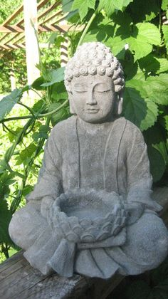 Large Concrete BUDDHA Statue 14 Tall By Springhillstudio On Etsy