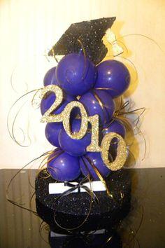 graduation decoration ideas | Linda Soto, a professional balloon and event decor designer, works ...