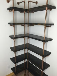Pantry Shelf Corner shelf Industrial Shelving by IndustrialEnvy