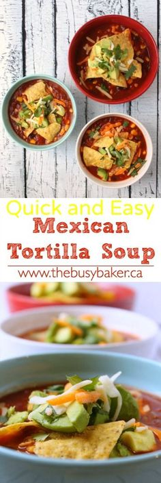 The Busy Baker: Easy Mexican Tortilla Soup