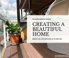 Eco Composite Wood Decking Supplies & Installation in Singapore Outdoor Decking, Wpc Decking, Decking Supplies, Wood Deck Designs, Composite Decking, Quotation, Cosy, 12 Months, Singapore