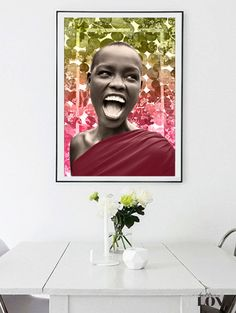 Woman Africa Happiness Mixed media collage Photo por SoulArtCorner