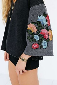 Pins And Needles Boxy Hooded Top