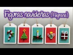 Figuras navideñas de filigrana , Quilling Christmas Figures - YouTube