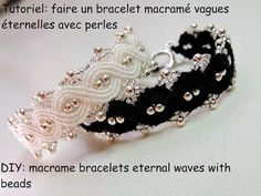 tutoriel bracelet macramé vague éternelle avec des perles (DIY bracelets eternal waves with beads) - YouTube