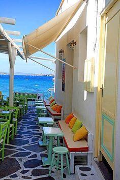 Seaside Café, Mykonos, Gréece